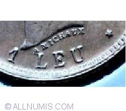 [VARIANTA] 1 Leu 1906 - Fara punct in A Michaux