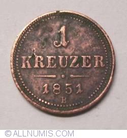 Imaginea #2 a 1 Kreuzer 1851 B