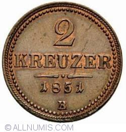 Image #2 of 2 Kreuzer 1851 B