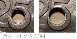 25 Bani 1921 - orificiu de 4.5 mm