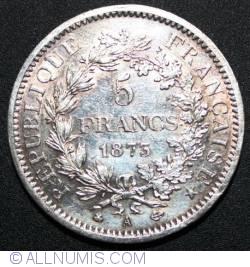 Image #1 of 5 Francs 1873 A