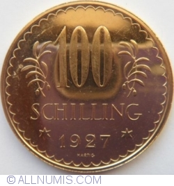 Image #2 of 100 Schilling 1927