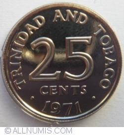 Imaginea #2 a 25 Cents 1971 - Franklin Mint