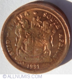 2 Cents (partial brockage error) 1991