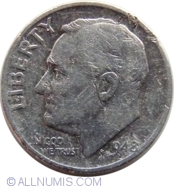 Image #2 of Dime 1948 S