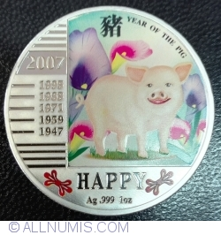 Image #2 of 1 Dollar 2007 - Year of the Pig