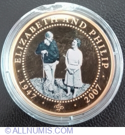 Imaginea #1 a 1 Dollar 2007 - Queen Elizabeth in casual clothes & Prince Philip with crook