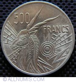Image #1 of 500 Francs 1976 B - Central African Republic