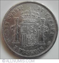 Image #1 of 5 Pesetas 1878 EM-M