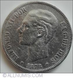 Image #2 of 5 Pesetas 1878 EM-M