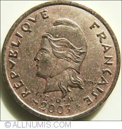 Imaginea #2 a 100 Franci 2003