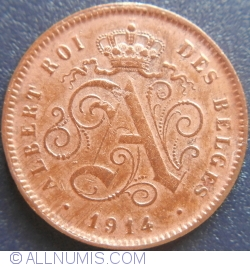 Image #2 of 2 Centimes 1914 BELGES