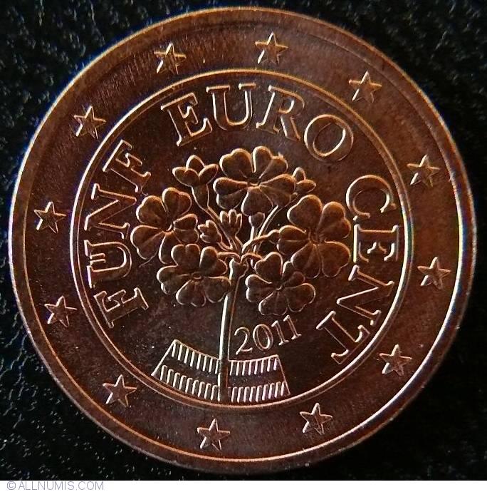 5 euro cent 2011 euro 2010 2019 austria moned 22767. Black Bedroom Furniture Sets. Home Design Ideas