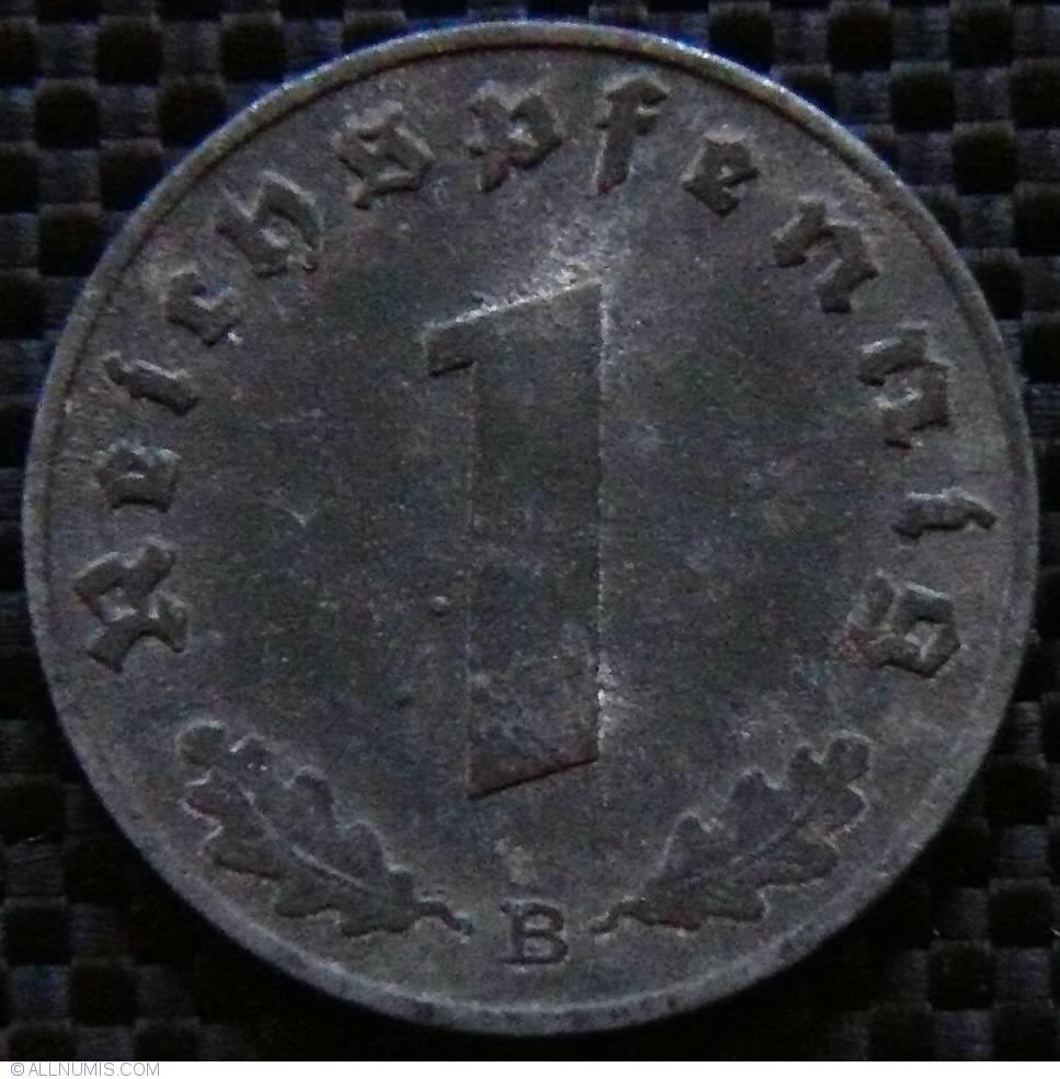 1 Reichspfennig 1941 B, Third Reich (1933-1945) - Germany