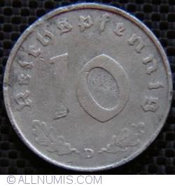 Image #1 of 10 Reichspfennig 1944 D