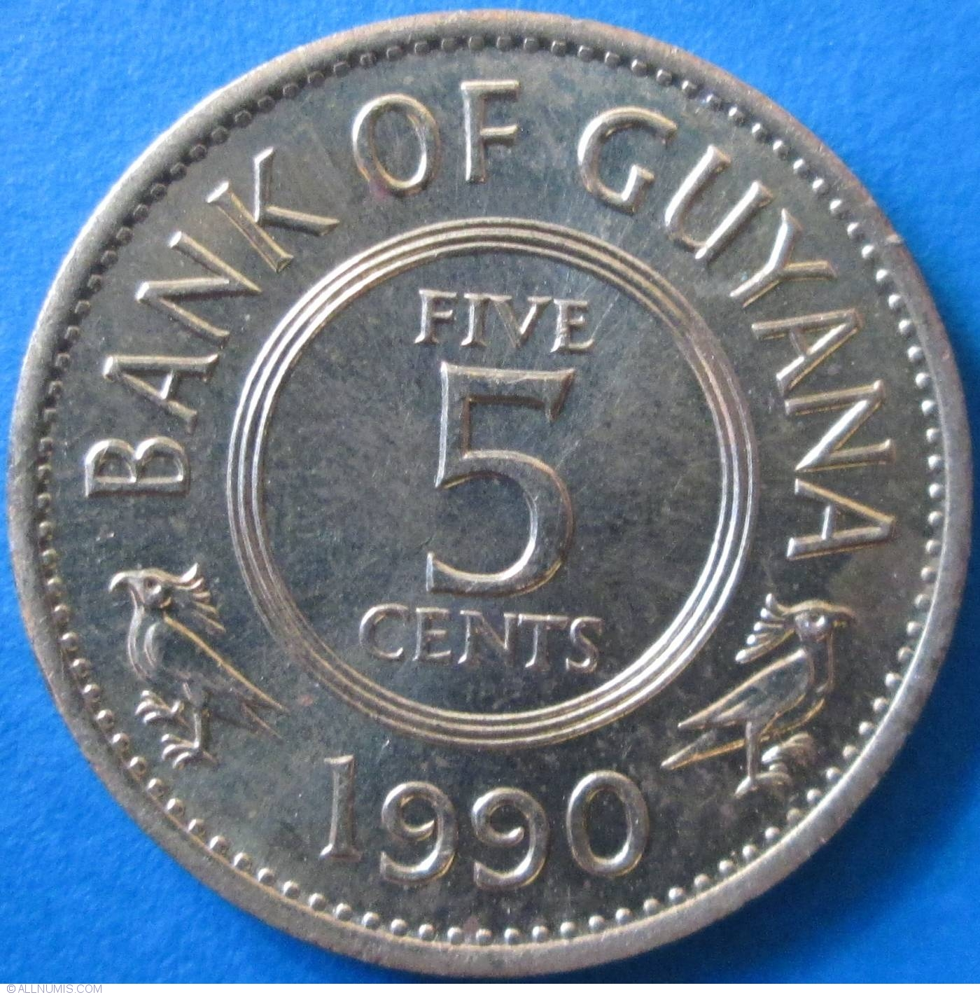 Guyana 1991 5 Cents Uncirculated KM32