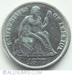 Image #2 of Seated Liberty Dime 1877 CC