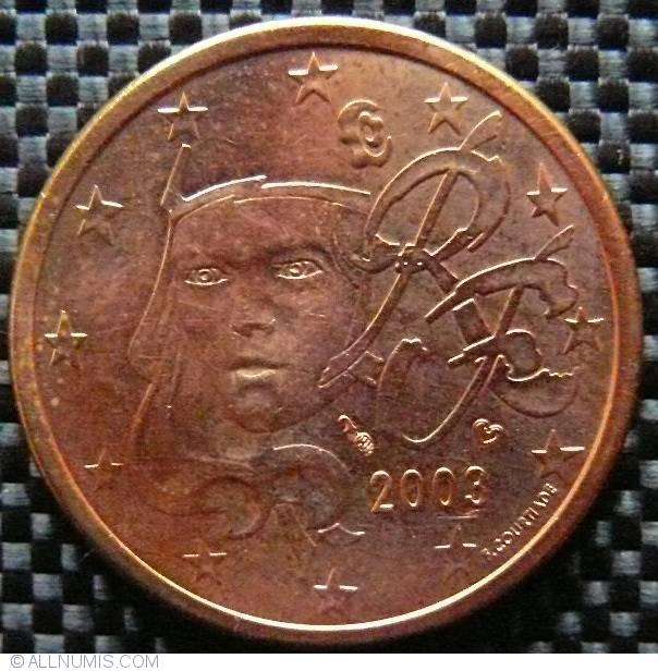 5 Euro Cent 2003 Euro 1999 2009 France Coin 22201