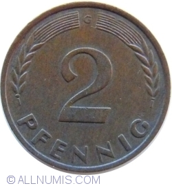 Image #1 of 2 Pfennig 1958 G