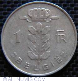 Image #1 of [ERROR] 1 Franc 1962 Belgie - Doubled Die