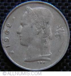 Image #2 of [ERROR] 1 Franc 1962 Belgie - Doubled Die
