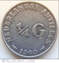 Imaginea #1 a 1/4 Gulden 1960