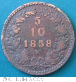 Image #1 of 5/10 Kreuzer 1858 V