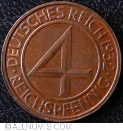 Image #1 of 4 Reichspfennig 1932 G