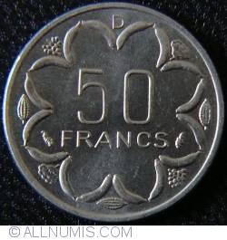 Image #1 of 50 Francs 1977 D - Gabon
