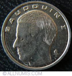 Image #2 of [ERROR] 1 Franc 1991 Belgique - Mold cracks on the reverse