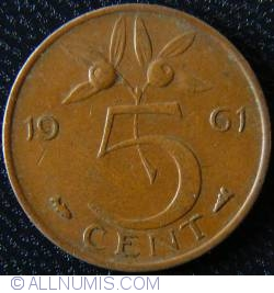 Image #1 of 5 Cents 1961