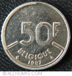 Image #1 of [ERROR] 50 Francs 1987 Belgique - Parital obverse striking