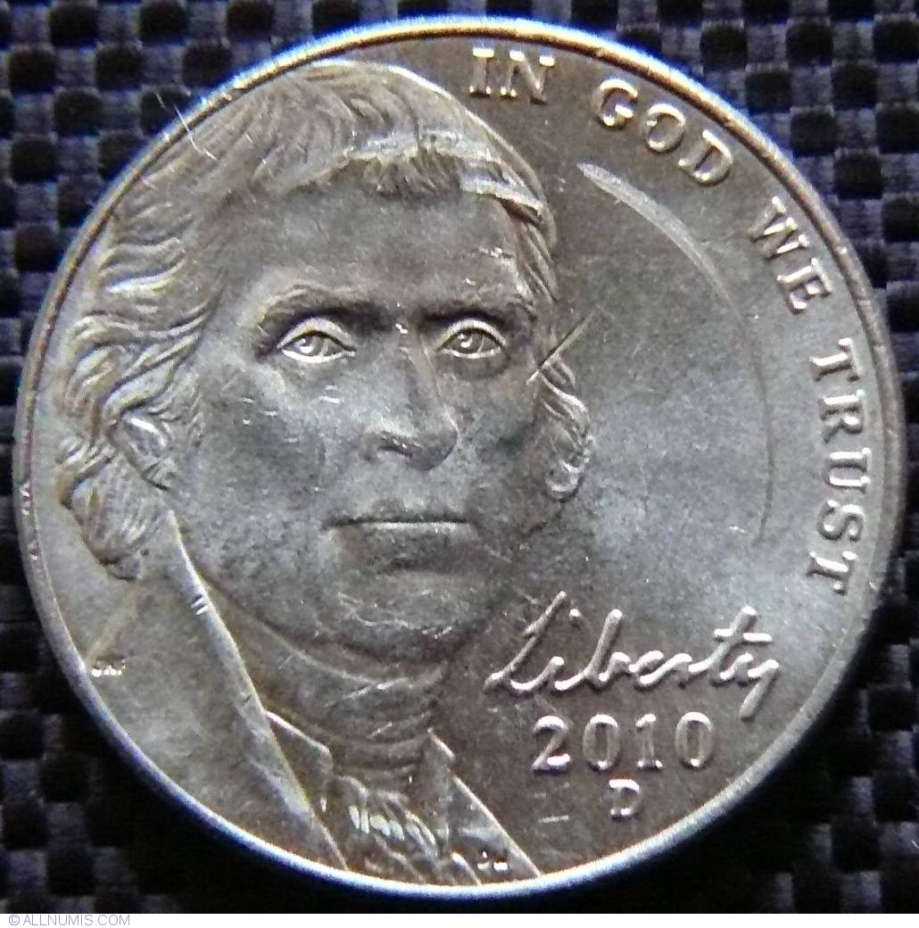 2010D JEFFERSON NICKEL BU.