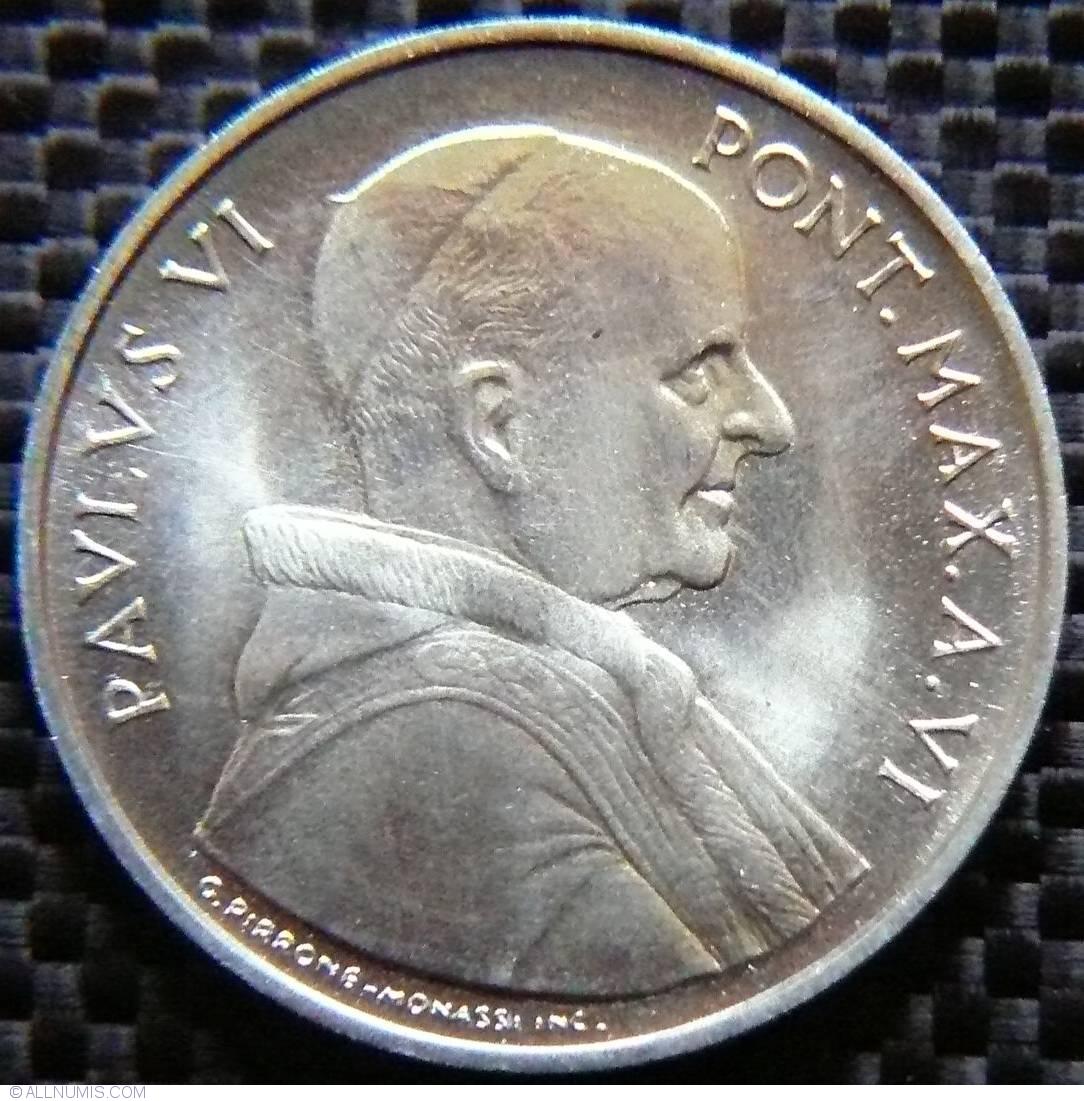 elf Vatican City 10 Lire 1968 FAO Pope Paul VI Feeding of the 5,000