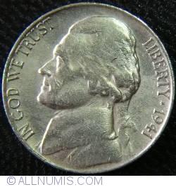 Image #2 of  Jefferson Nickel 1941 S