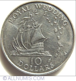 Image #1 of 10 Dollars 1981 - Royal Wedding