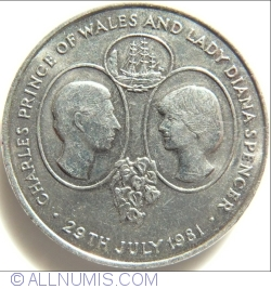 Image #1 of 25 Pence 1981 - Charles Prince of Wales and Lady Diana Spencer