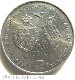 Image #1 of 25 Pence 1981 - Wedding of HRH the Principe of Wels and Lady Diana Spencer