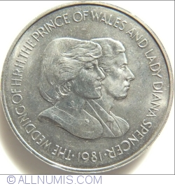 Image #1 of 50 Pence 1981 - The Wedding of the HRH Prince of Wales and Diana Spencer