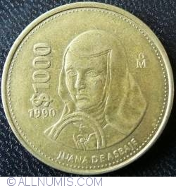 Image #1 of 1000 Pesos 1990