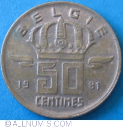 Image #1 of 50 Centimes 1981 (België)