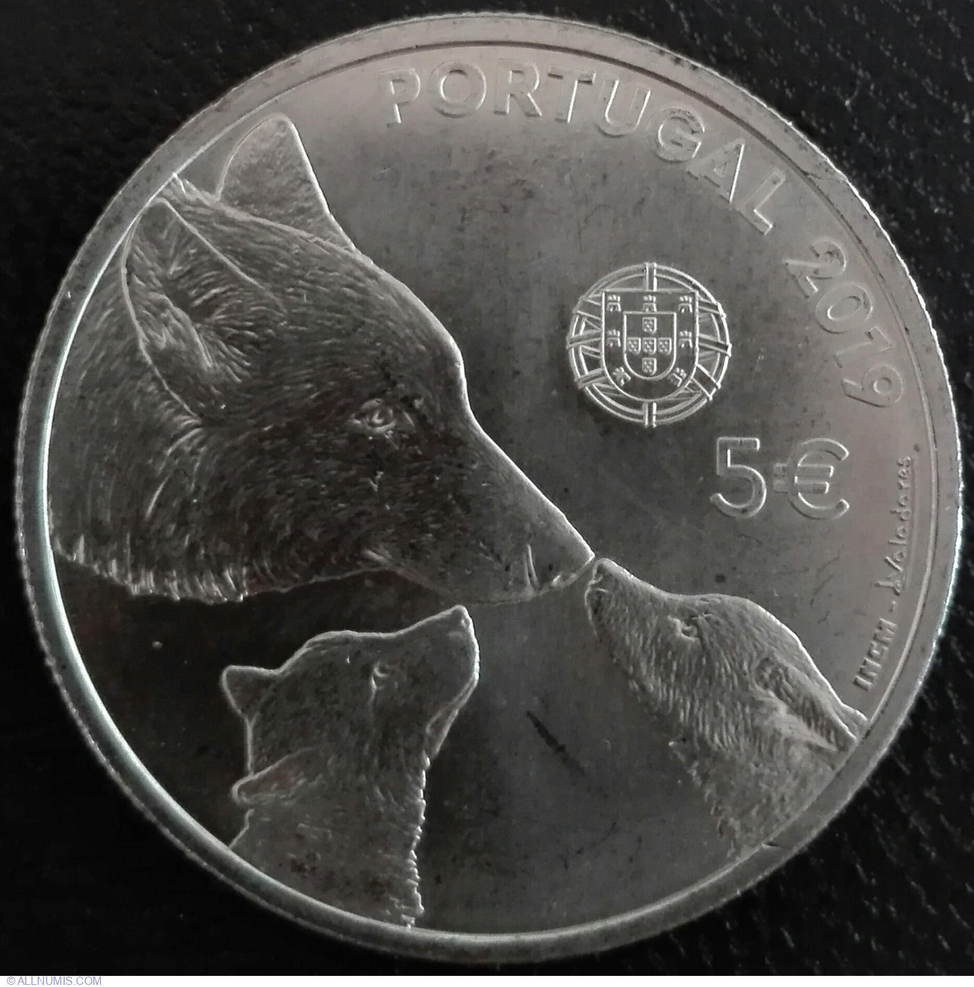 2019-5 EURO SILVER COIN PROOF PORTUGAL lobo ibérico