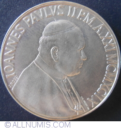 Image #2 of 500 Lire 1999 (XXI) - 70th Anniversary - Vatican City Arms of Six Popes