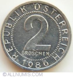 Image #1 of 2 Groschen 1986