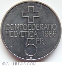 Image #1 of 5 Francs 1986 - Battle of Sempach