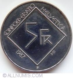 Image #1 of 5 Francs 1987 - Le Corbusier