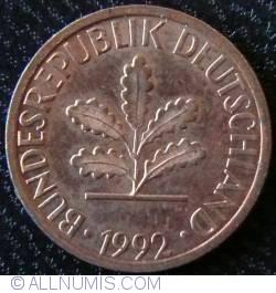 Image #2 of 1 Pfennig 1992 G