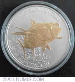 Image #2 of 5 Dollars 2014 - Yellow Fin Tuna (colored)