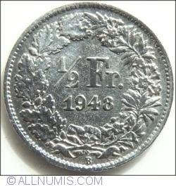 Image #1 of 1/2 Franc 1948