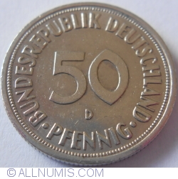 Image #1 of 50 Pfennig 1966 D